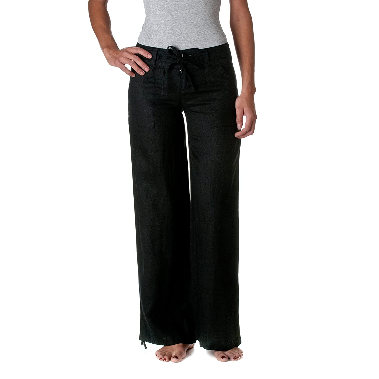 Good Prices first rate dependable performance Love Tree Women's 100% Linen Wide Leg Pants
