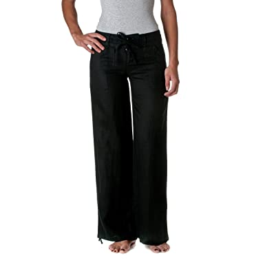 4732a9677d4 Love Tree Women s 100% Linen Wide Leg Pants