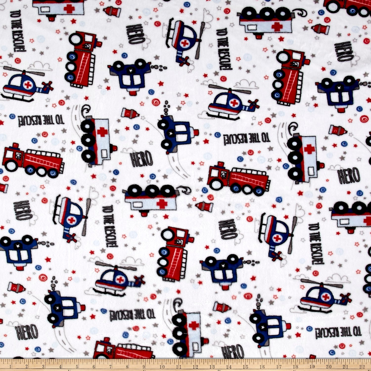 Amazoncom Shannon Fabrics Minky Cuddle To The Rescue Fabric By