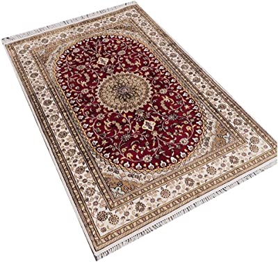 camel carpet red nain hand knotted 4x6 persian carpets sale - Carpets For Sale