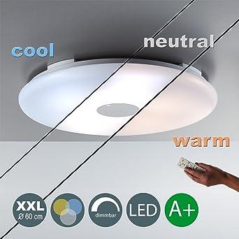 36W LED Deckenleuchte XXL 60cm 3500LM Warmweiss 3000 6000K Wohnzimmerleuchte Panel Dimmbar Deckenlampe Inkl