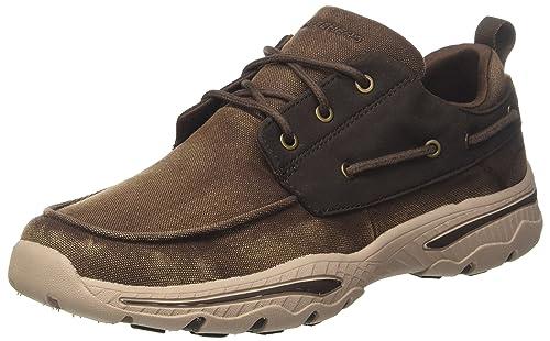 Skechers Creston-Vosen, Zapatillas para Hombre, Marrón (Chocolate), 44 EU