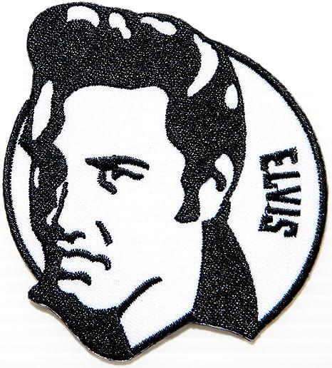 Elvis Presley Rock n Roll Pop Music Band logotipo de marca Sew ...