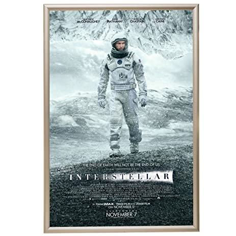 movie poster frame 27x40 inches cream snapezo 12 aluminum profile front loading - Movie Poster Frames 27x40