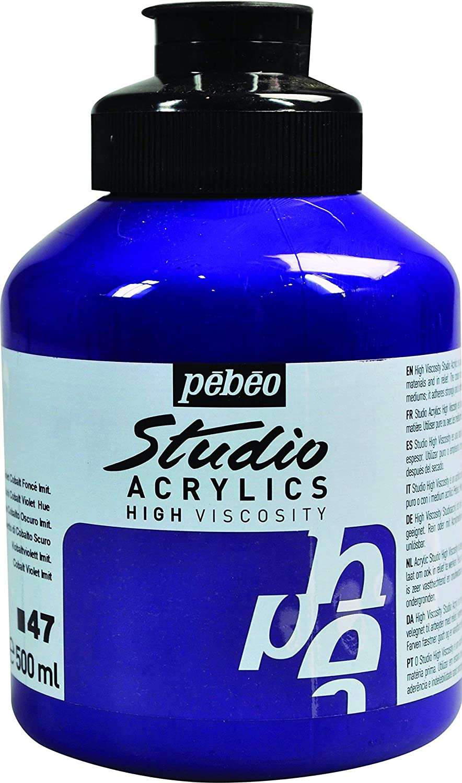 Studio Acrylics 500ミリリットル アクリル塗料 ダークコバルトバイオレット色   B005INHR1O