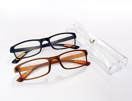 a208f8b378b Reading Glasses +1.00 Super Light Portable Full Rim Frame Black Rectangular  Men Women Reader