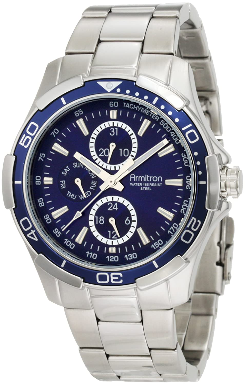 amazon com armitron men s 204677blsv stainless steel bracelet amazon com armitron men s 204677blsv stainless steel bracelet watch watches