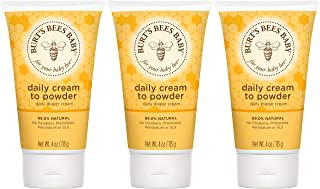 product image for Burt's Bees Baby Daily Cream to Powder, Talc-Free Diaper Rash Cream - 4 Ounces Tube - Pack of 3