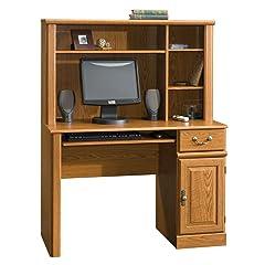 Sauder Orchard Hills Small Computer Desk with Hutch, Carolina Oak