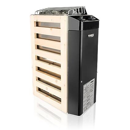finnex compacta estufa para sauna (3 kW ahorro de espacio pequeño saunas con rocas y