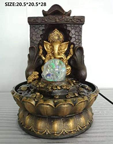 My Aashis Ganesha Water Fountain Statue for Home Decor