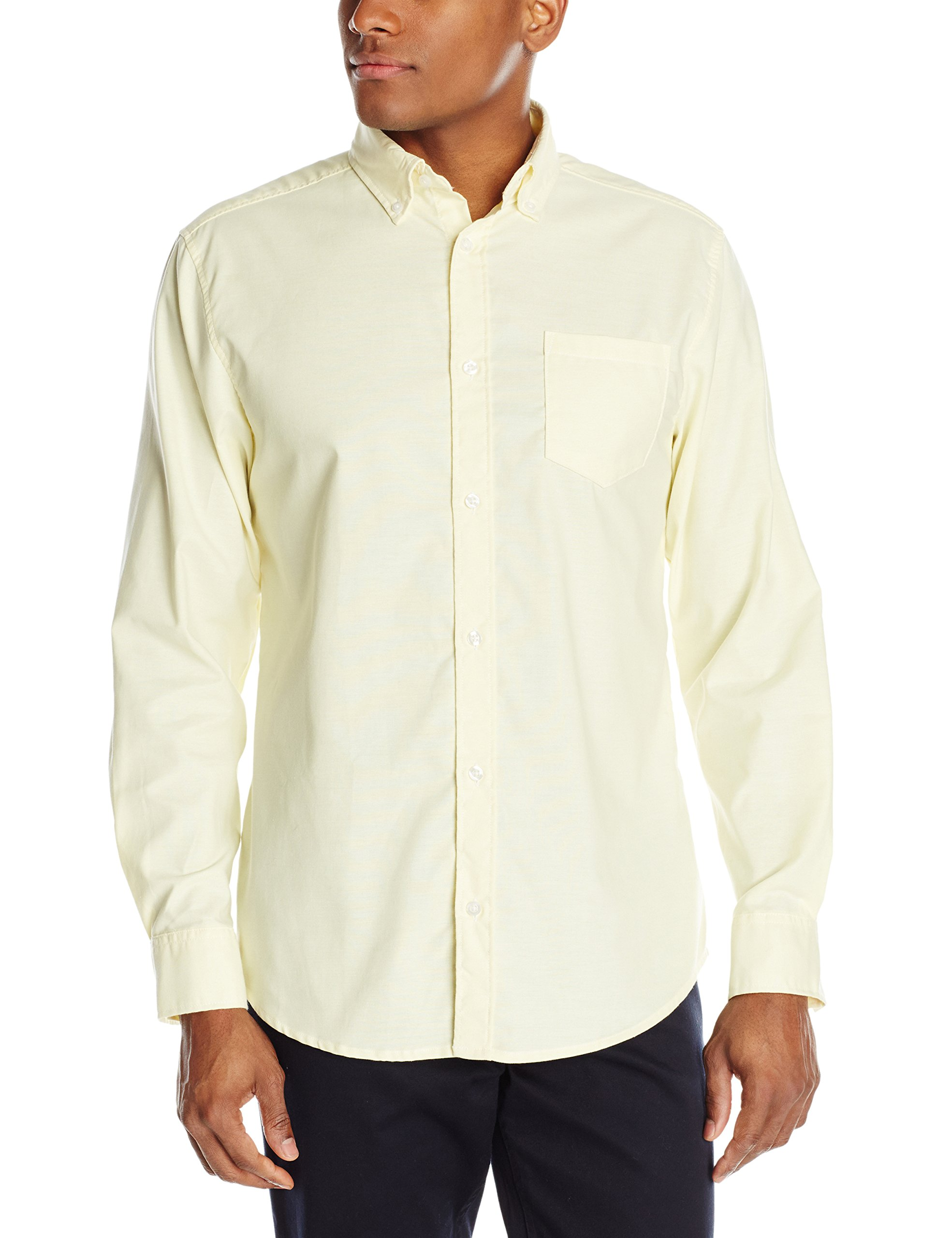 Lee Uniforms Men's Long Sleeve Oxford Shirt, Yellow, Large by Lee Uniforms