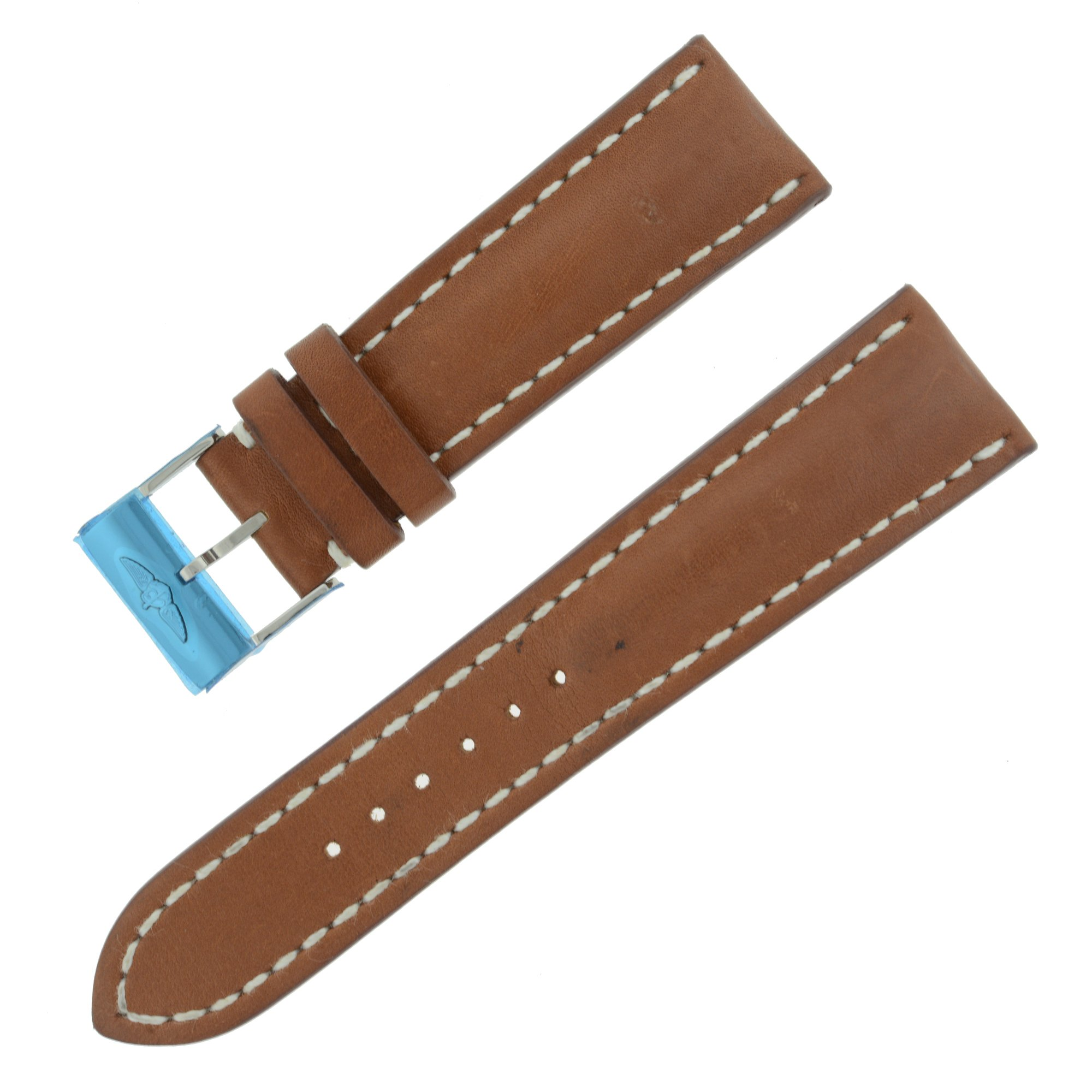 Breitling 24 - 20 mm Brown Leather Strap