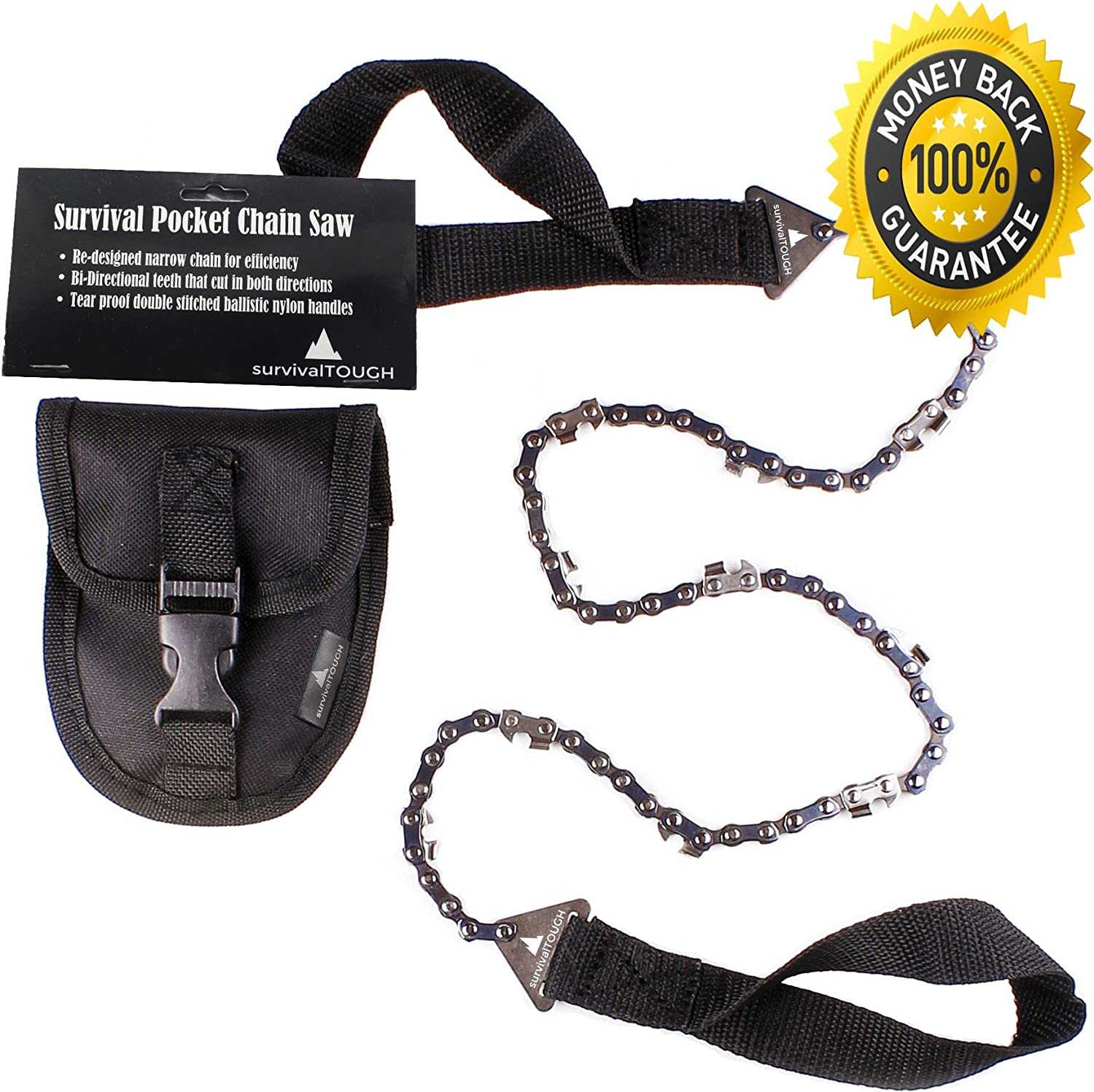survivalTOUGH- 36-Inch Survival Pocket Chain Saw with Pouch 36 Inch