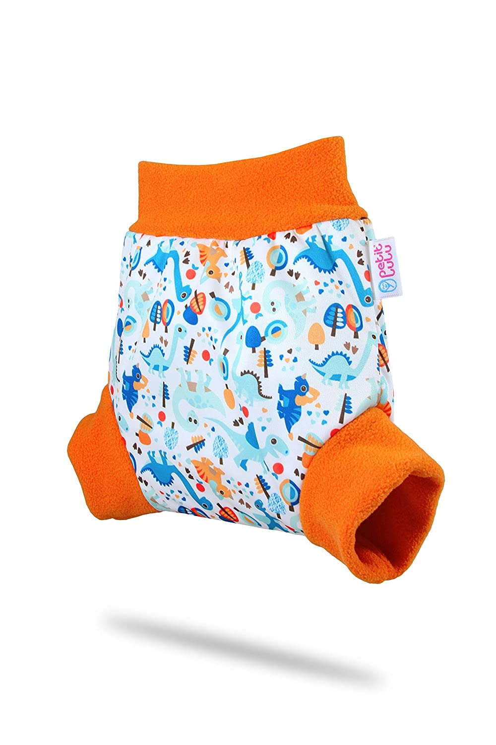 Petit Lulu Pull Up Diaper Wrap Easy /& Quick Changing , Size XL 5 Sizes Made in Europe Baby Elephants Blue Reusable /& Washable Waterproof