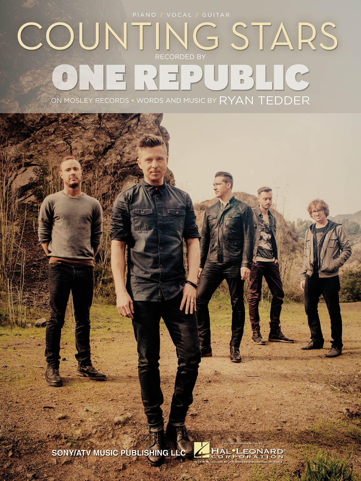 One Republic Counting Stars Sheet Music Single 0884088962852
