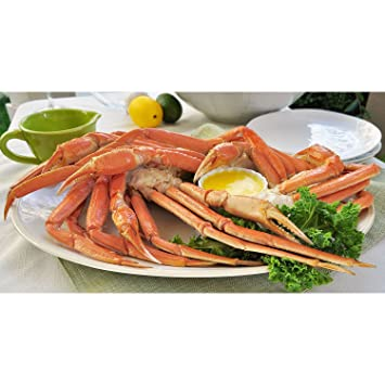 10 lb ) Frozen Snow Crab Clusters, Ready to Eat Shipped in Cooler