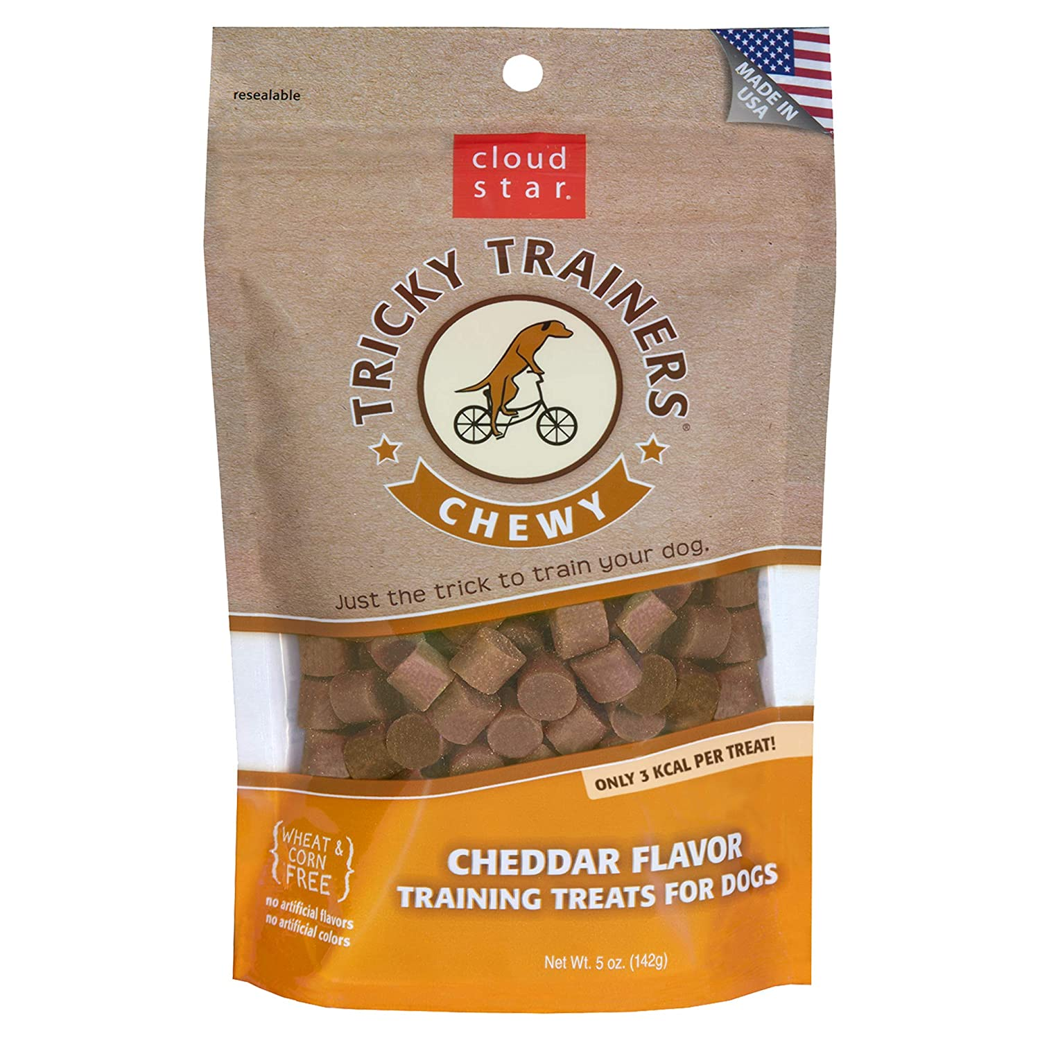 Cloud Star Chewy Tricky Trainers Cheddar 5-Ounce Bags (Pack of 4)
