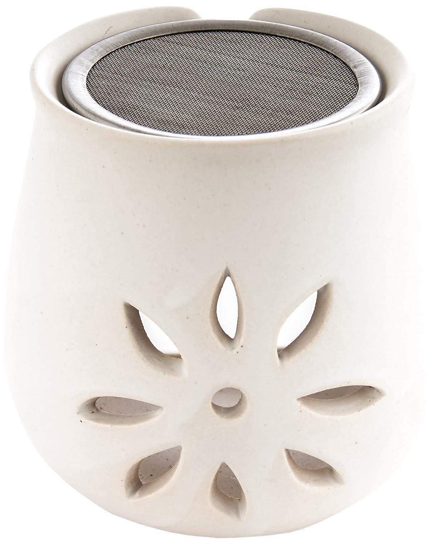Berk KH-280 Accessori per incenso - Bruciatore in argilla con colino, design: Fiore
