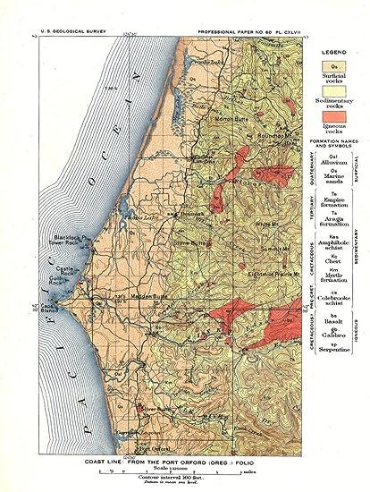 Amazoncom Port Orford Oregon Us Geological Survey Map Of The - Us-geologic-survey-maps