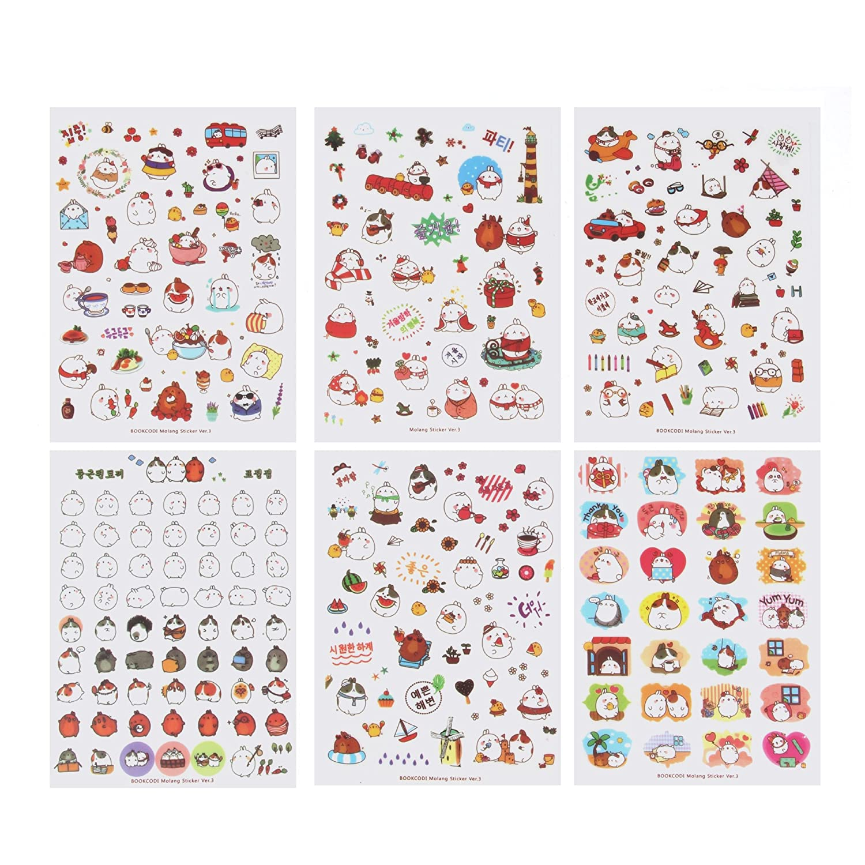 Cute Bunny Rabbit Charactor Sticker Diary Scrap Book Scrapbooking Decor Decoration 18 Sheets Lot Korean Stationery Bujingyun