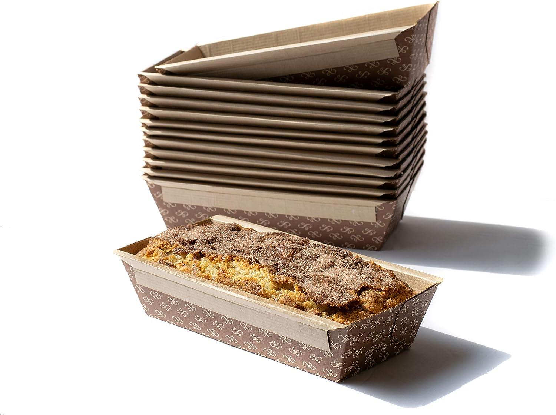 Medium Kraft Paper Disposable Bread Loaf Pans for Baking SET of 32