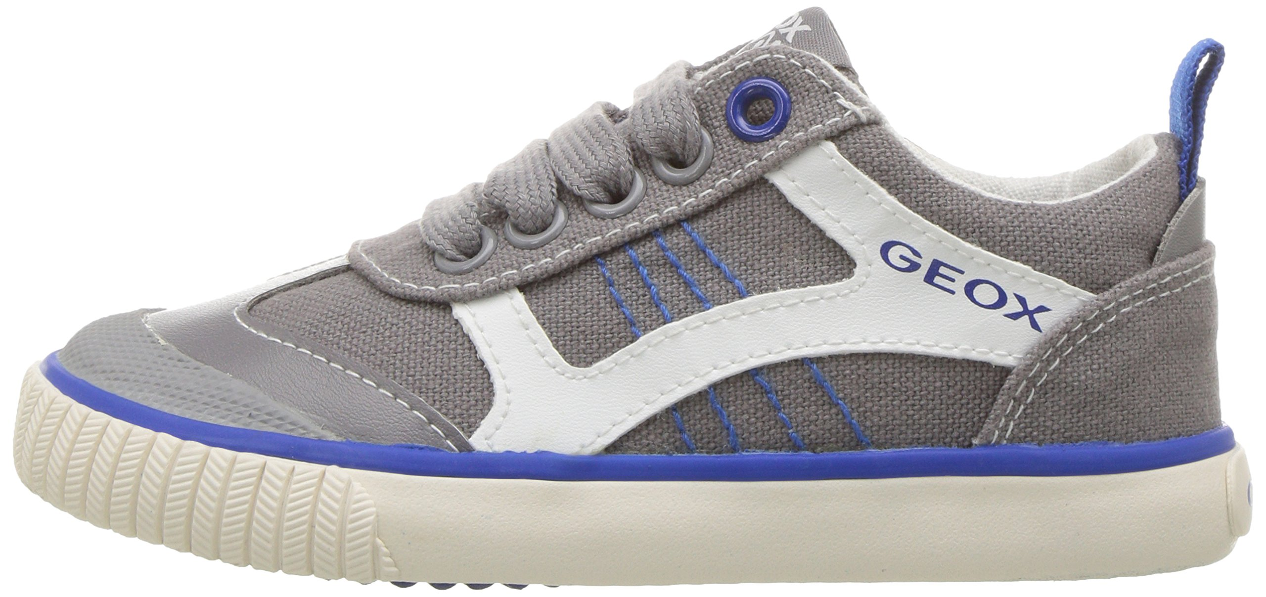 Geox Boys' JR KIWIBOY 89 Slip-On Grey/Royal 36 EU/4 M US Big Kid by Geox (Image #5)
