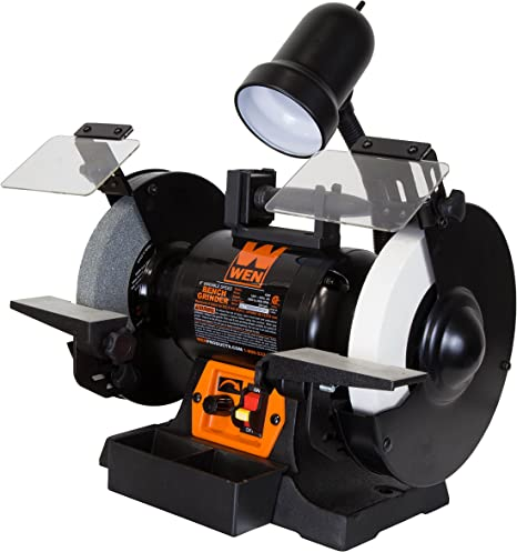 Mountain 5708 8-Inch Bench Grinder w//Light