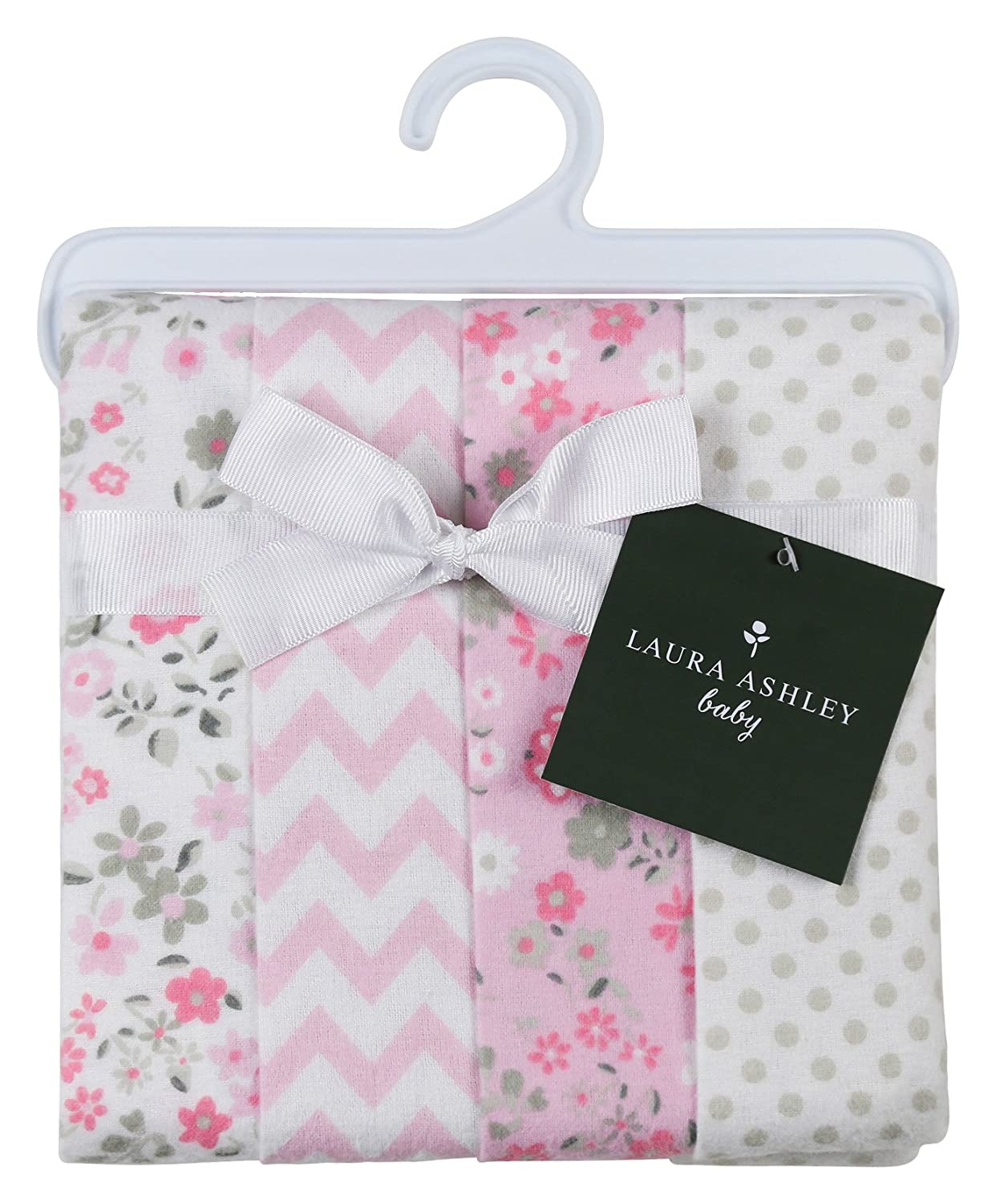 Amazon.com: Laura Ashley 4 Piece Ladder Receiving Blanket, Annabel ...