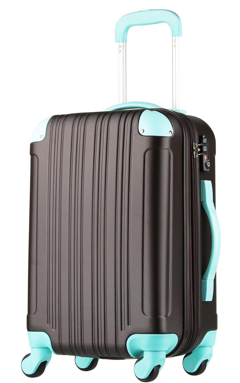 【レジェンドウォーカー】LEGEND WALKER スーツケース 容量拡張 TSAロック 超軽量 マット加工 ファスナー開閉 5082 B0797S26WX Mサイズ(5~7泊/61(拡張時72)リットル)|チョコ/ミント チョコ/ミント Mサイズ(5~7泊/61(拡張時72)リットル)