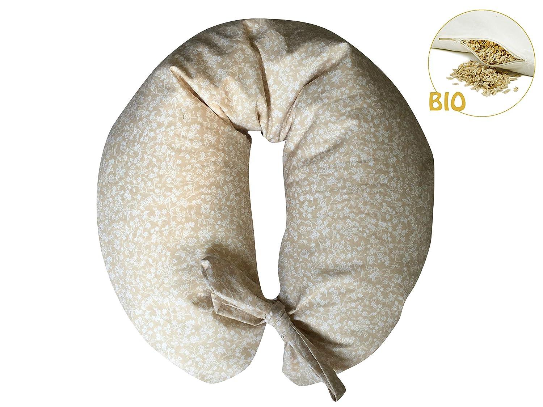 hellblau /Stillkissen gef/üllt mit Bio-Dinkelspelz merrymama/ Futter mit Schn/ürung//cm 130/