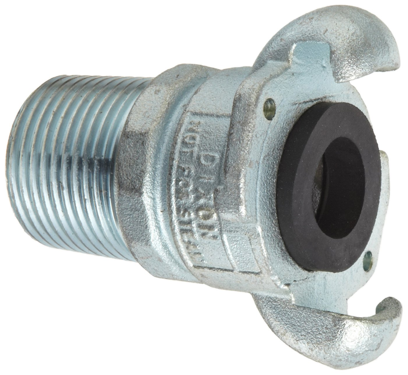 Dixon Valve & Coupling GAM12 Plated Steel Global Air Hose Fitting, King Universal Coupling, 1'' NPT Male by Dixon Valve & Coupling