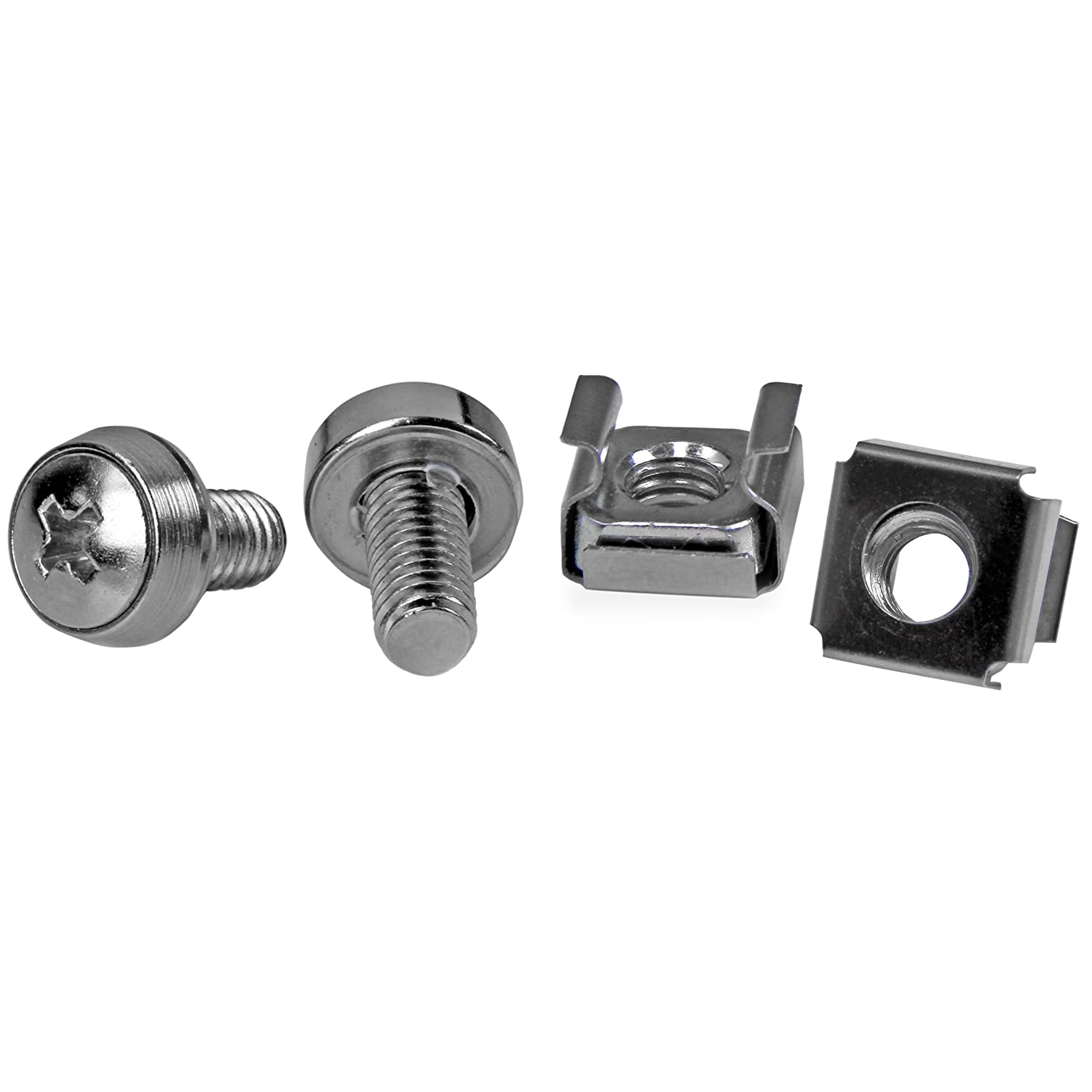 Startech 50 Pkg M6 Mounting Screws and Cage Nuts for Server
