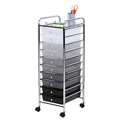 Ordinaire Honey Can Do CRT 05255 10 Drawer Shaded Storage Cart