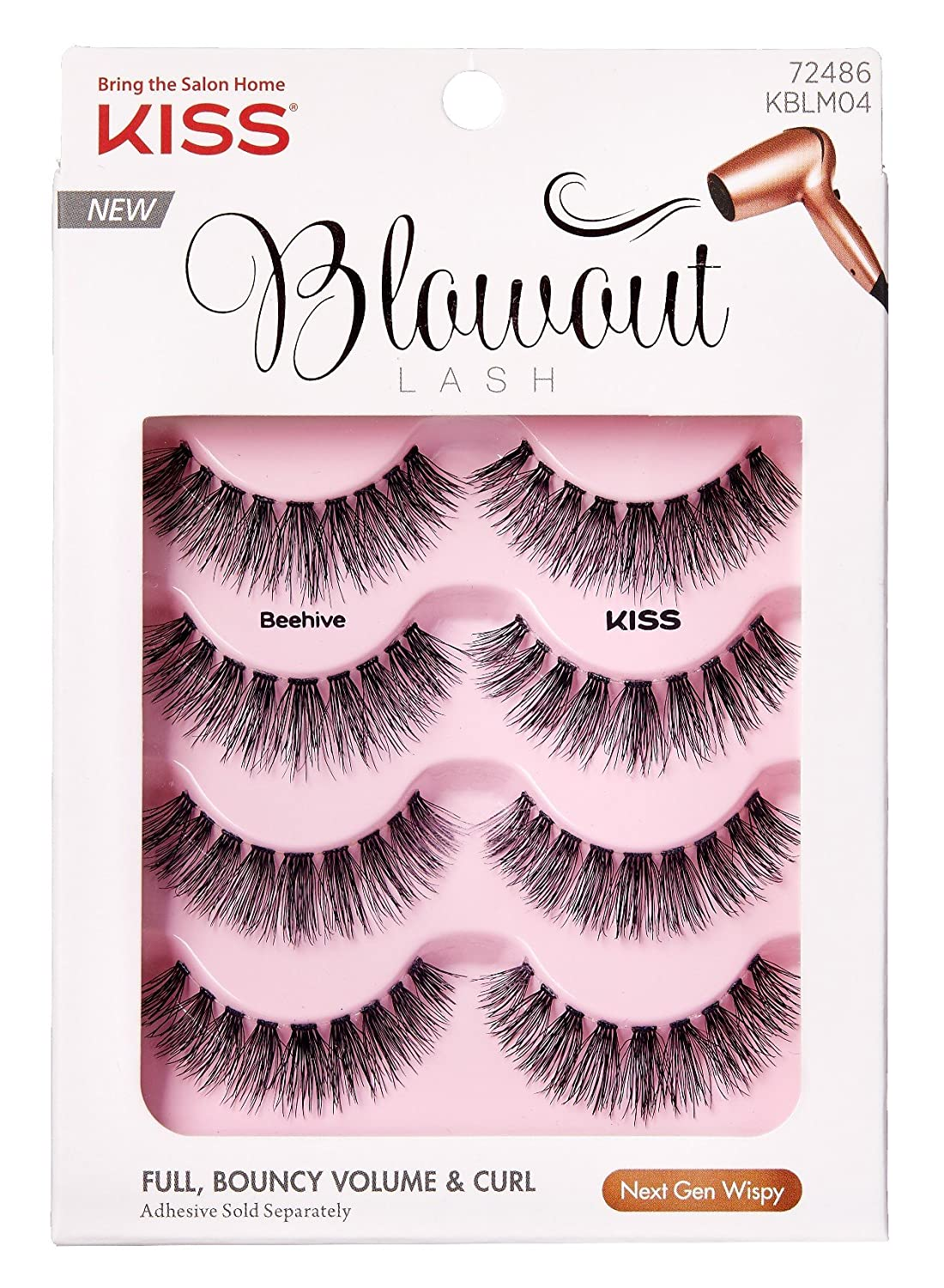 Kiss Blowout Lashes Beehive 4-Pairs (2 Pack)