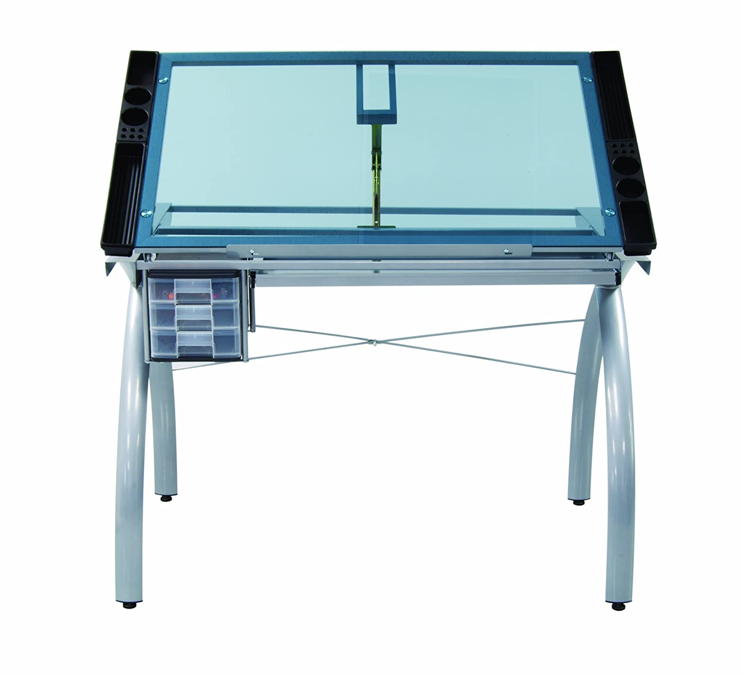 Studio designs futura craft station with glass top - Amazon Com Studio Designs 10050 Futura Craft Station Silver Blue Glass Arts Crafts Sewing