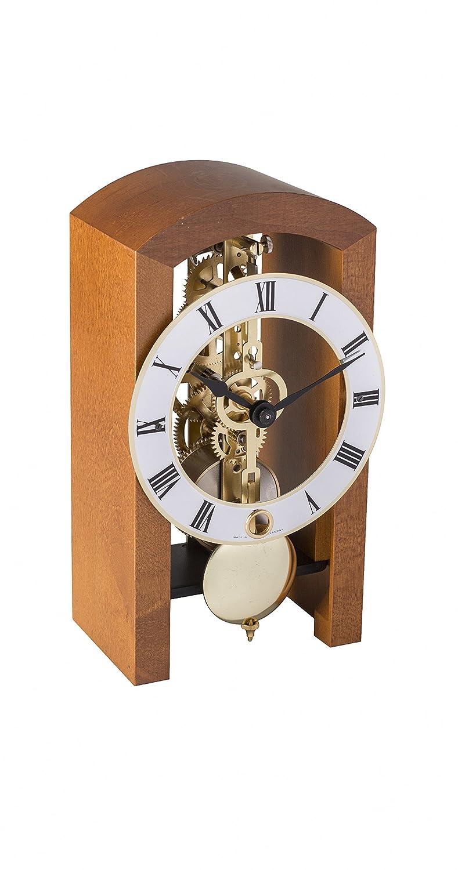 Hochwertige mechanische Tischuhr mit Schlüsselaufzug Hermle -Boston 18cm Kirschbaum- 23015-160721