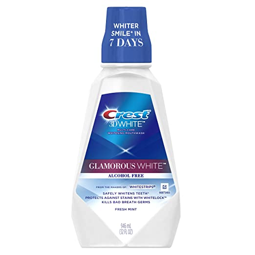 Crest 3D White Luxe Glamorous White Multi-Care Whitening Fresh Mint Flavor Mouthwash - Best Mouthwash for Whitening
