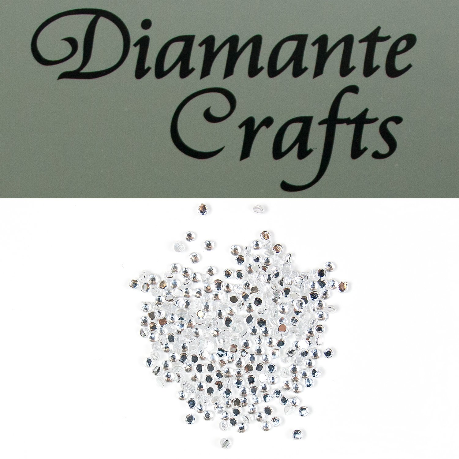 300 x 1mm Clear Round Diamante Loose Flat Back Rhinestone Gems - created exclusively for Diamante Crafts