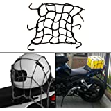 Autofy Multipurpose Universal Multipurpose Super Strong Bungee Net/Seat Jali for All Bikes  (Black)