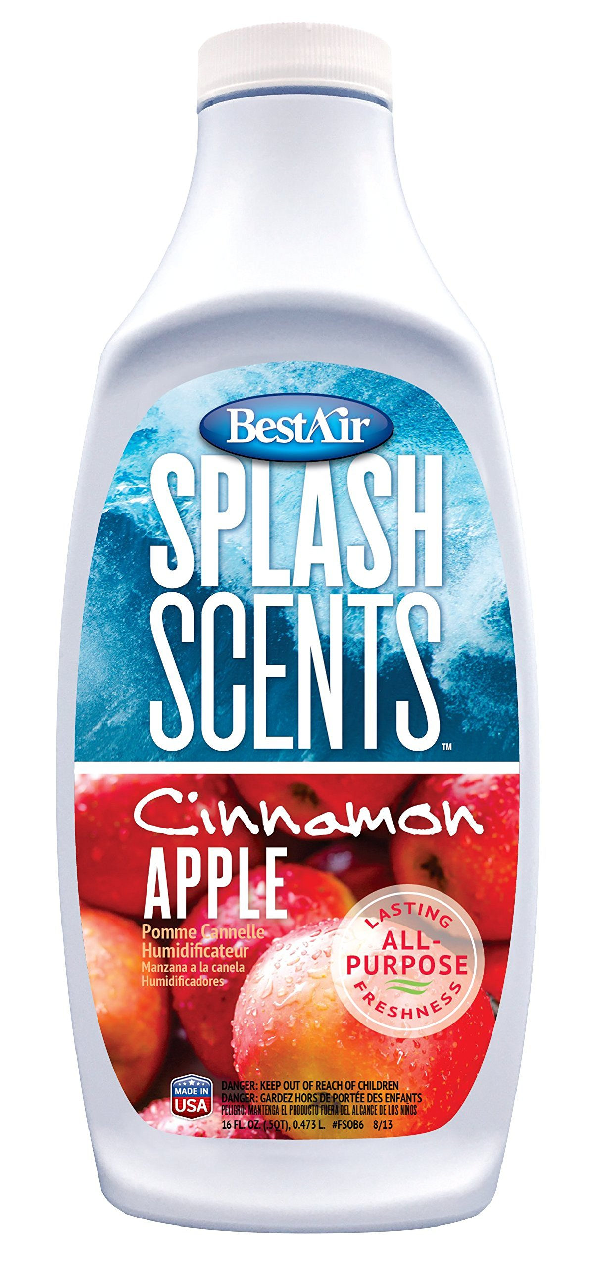 Bestair FSCA6, Cinnamon Apple Splash Scents and Water Treatment, 16 oz, 6 pack