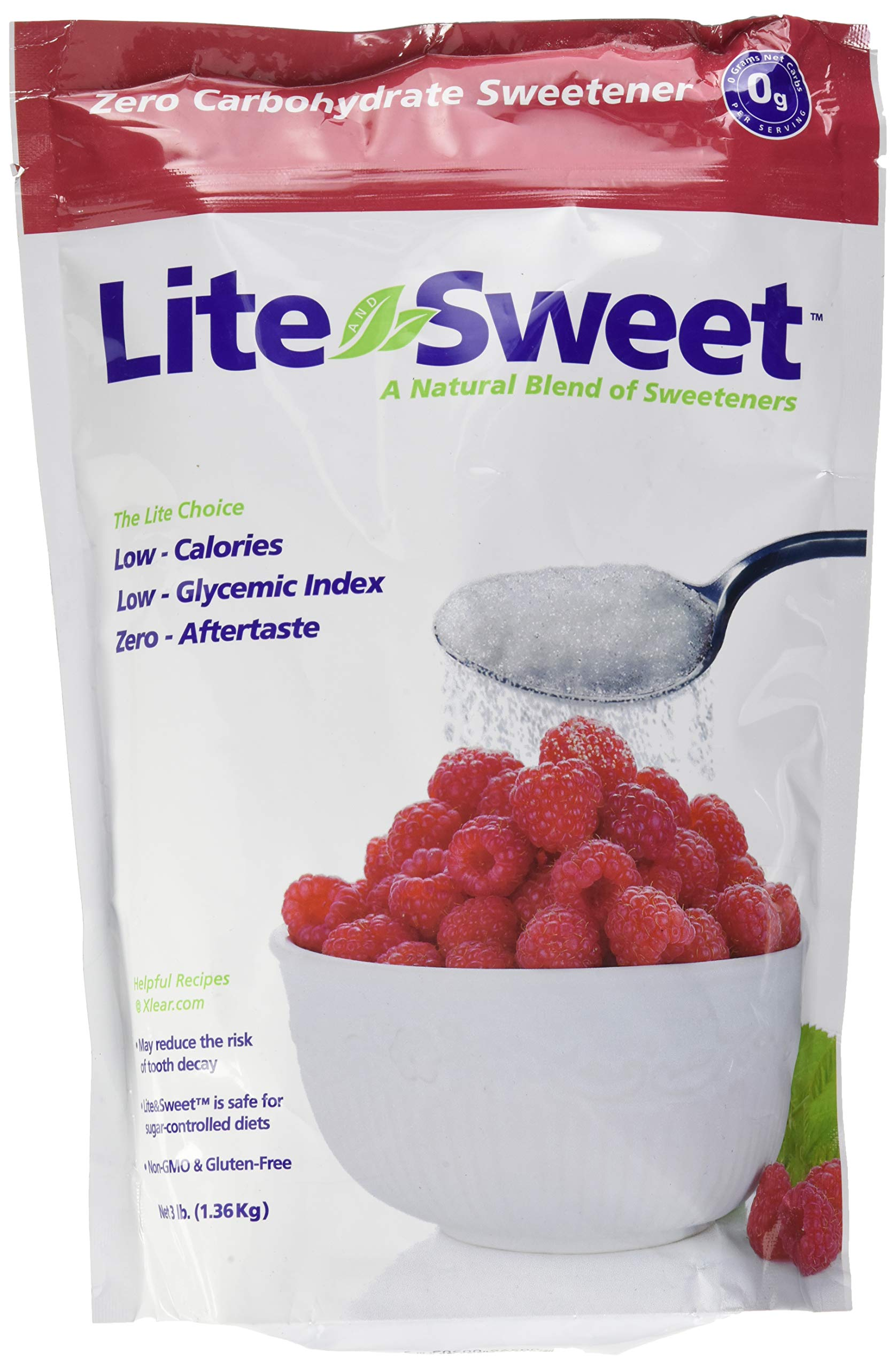 Lite and Sweet Natural Erythritol and Xylitol Sweetener Blend, 3 Pound by Xlear