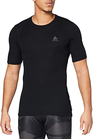 Odlo Short Sleeve Crew Neck Warm Camiseta, Hombre