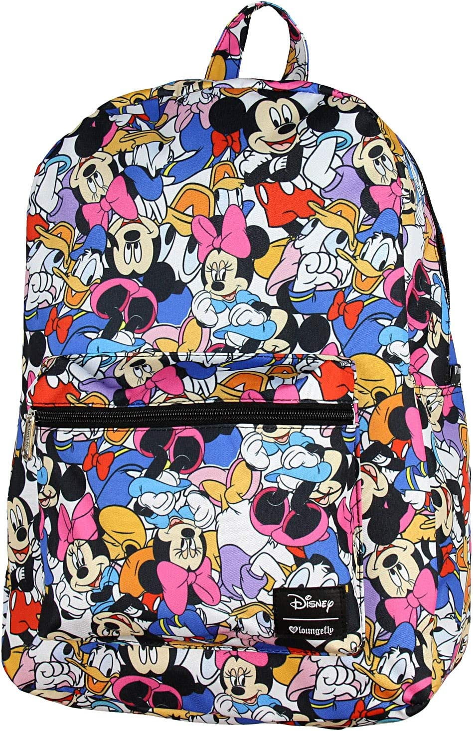 Disney Mickey Minnie Mouse Donald Daisy Duck Backpack Friends Print