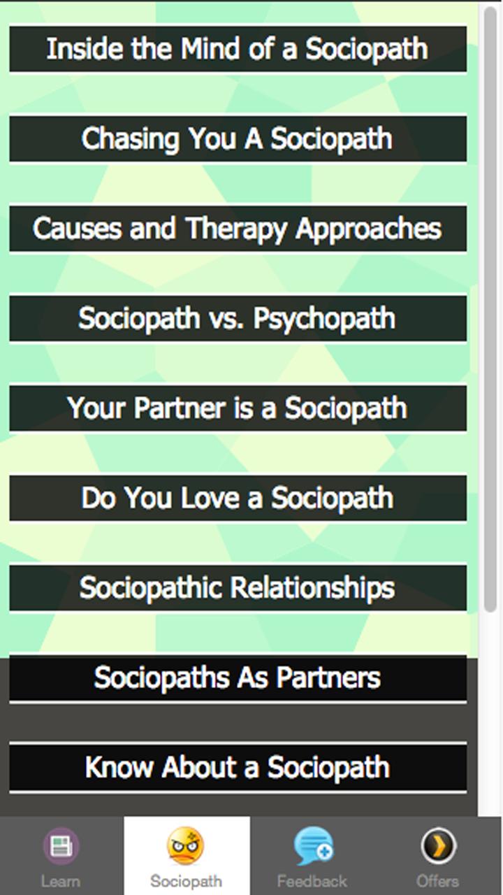 Symptoms of a Sociopath