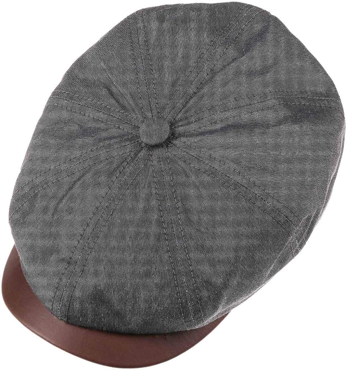 Stetson Gorra Hatteras Waxed Cotton Outdoor Hombre Forro Verano//Invierno Made in Germany de algod/ón Newsboy Verano con Visera Forro
