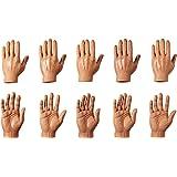 Set of Ten Dark Skin Tone Finger Hands