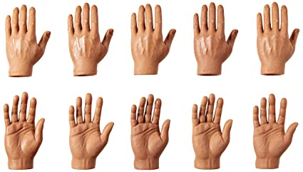 22bc5d853 Image Unavailable. Image not available for. Color: Accoutrements Set of Ten  Dark Skin Tone Finger Hands
