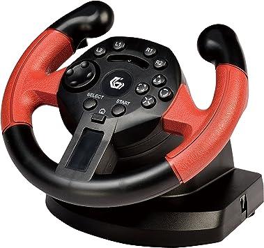 Gembird STR-UV-01 Volante PC,Playstation 3 Negro, Rojo Mando y Volante: Amazon.es: Electrónica