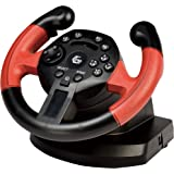 Gembird STR-UV-01 Steering wheel PC,Playstation 3 Black,Red gaming controller - gaming controllers (Steering wheel, PC, Playstation 3, Analogue / Digital, Home, Select, Start, Wired, USB)